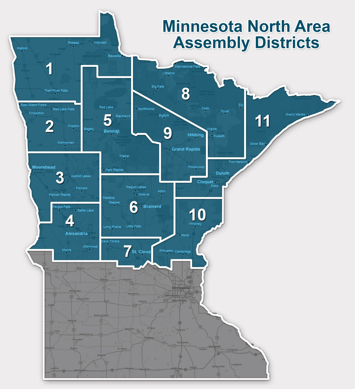 District Map - MN North Al-Anon - Northern Minnesota AA District Map